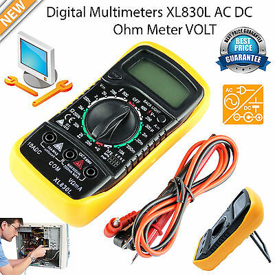 Digital LCD Multimeter Ammeter Voltmeter AC DC OHM Circuit Voltage Tester Buzzer
