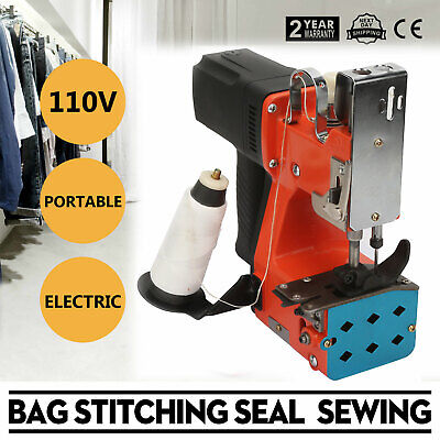 Portable Handheld Electric Bag Sealing Sewing Machine 110v Sack Stitching Closer