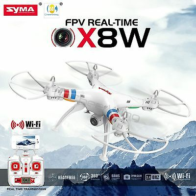 Syma X8W 2.4Ghz 4CH RC Headless FPV (Real Time) Quadcopter w/ Wifi Camera WHITE