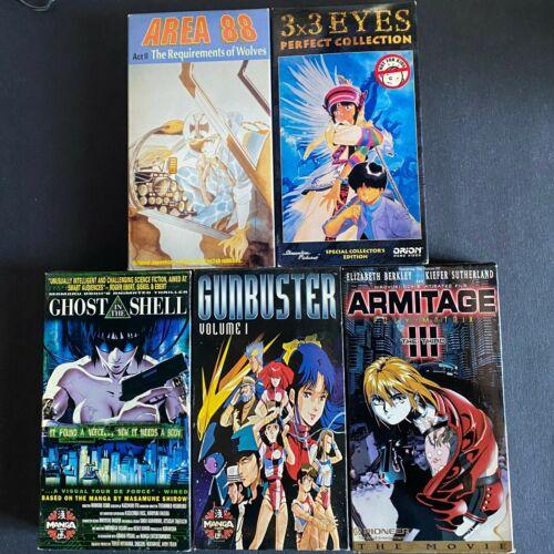 Vintage Japanese Anime Manga VHS Lot