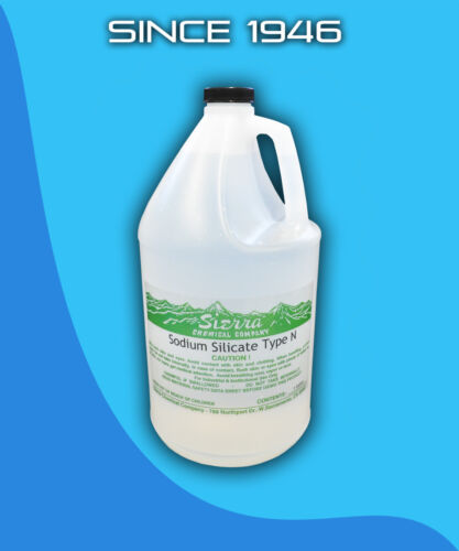 Sodium Silicate 37.5% Type N - 1 Gallon Water Glass Auto Repair Head Gasket
