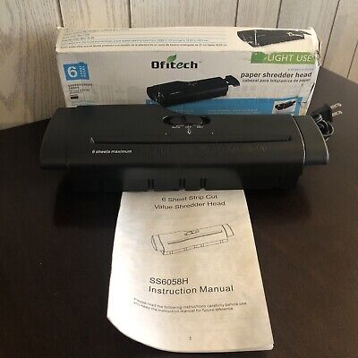 Pre-owned Ofitech Light Use 6 Sheet Paper Shredder Head - Shreds Credit Cards