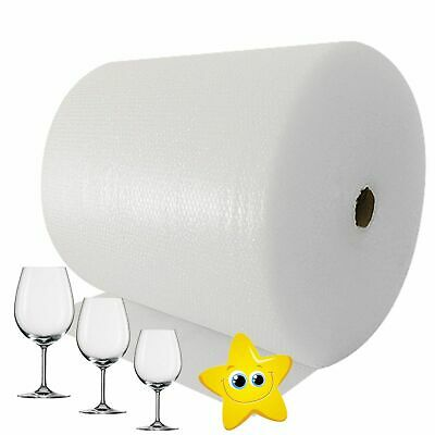 2 x 600mmx100m High Quality Small Polythene Strong Cushion Bubble Wrap
