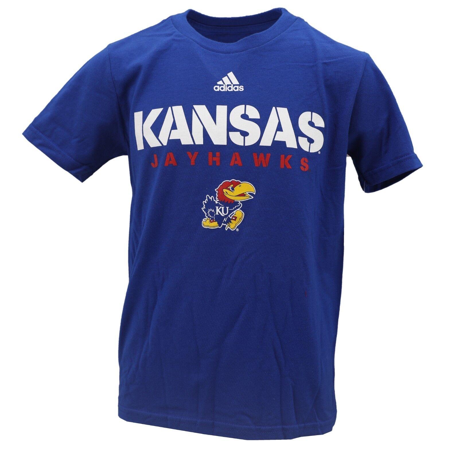 4ae93d6f100b Kansas Jayhawks Official NCAA Adidas Apparel Kids Youth Size T-Shirt New  Tags