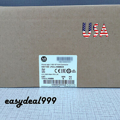 Factory New Allen-bradley 1763-l16bbb Micrologix1100 16point Controller Warranty