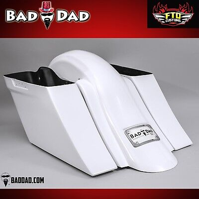 Bad Dad Competition Series Stretched Saddlebags and Fender 2014-2018 no cutouts
