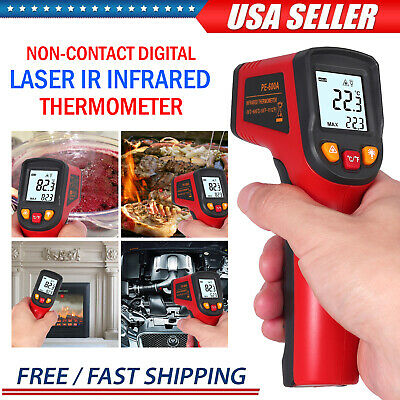 Temperature Gun Non-contact Digital Laser Ir Infrared Thermometer Temp Meter New