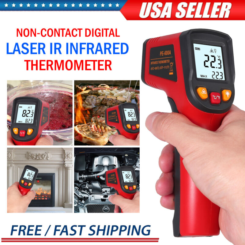 Temperature Gun Non-contact Digital Laser IR Infrared Thermometer Temp Meter NEW