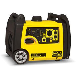 Champion 3100 Watt Quiet Portable Camping RV Ready Gasoline Inverter Generator