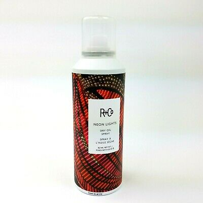 R+Co Neon Lights Dry Oil Hair Spray FULL SIZE 5 oz Soft Shine Finishing Product