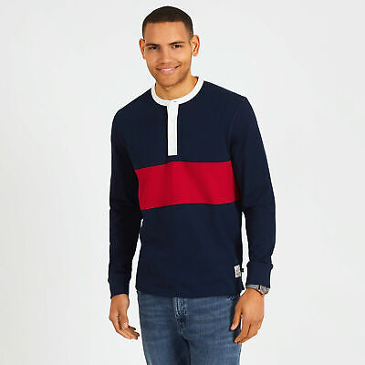 Nautica Mens Big & Tall Long Sleeve Colorblock Henley