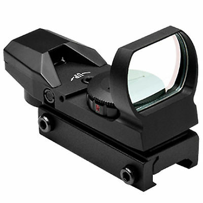 Ncstar D4rgb Black Four Reticle Red   Green Reflex Dot Optic Rifle Sight