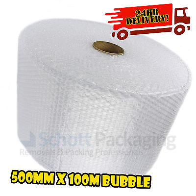500mm x 100m BUBBLE WRAP ROLL - FAST & FREE 24HR NEXT DAY DELIVERY AS STANDARD!