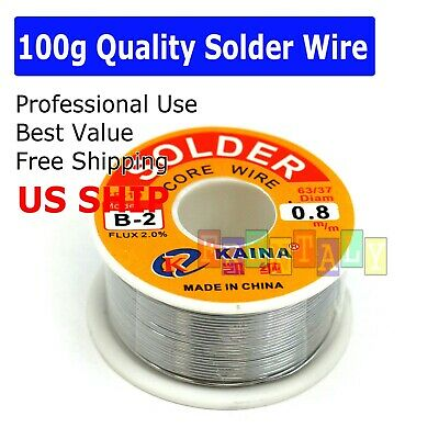 63-37 Tin Lead Rosin Core Solder Wire Soldering Sn60 Pb40 Flux .0310.8mm 4oz