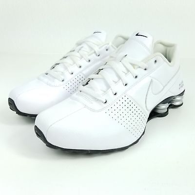 Nike Shox Deliver Premium Sneakers All White Silver 317547-109 New store (Nike Stores)