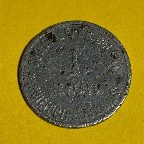 PHILIPPINES CULION LEPER COIN 1913 ONE CENTAVO KM-2 #103 RARE