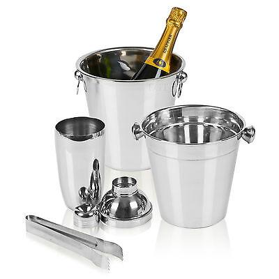 Bar Bucket Cocktail Shaker Set Bartender Home Kit Drinks Mixer Maker Ice Tongs