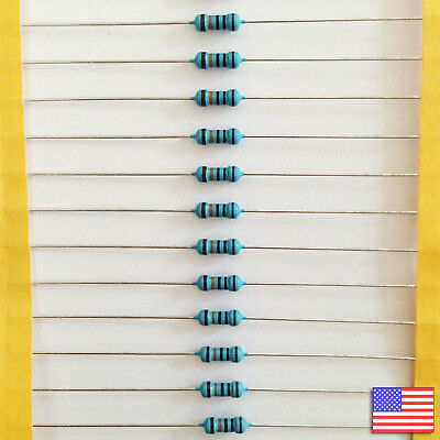 25x 25pcs 100k 100000 Ohm Metal Film Resistor 14 Watt 1 Tol. Fast Us Shipping