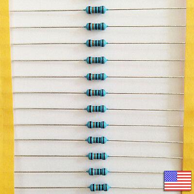 25x 25pcs 100k 100000 Ohm Metal Film Resistor 14 Watt 1 Tol. Fast Us Shipping