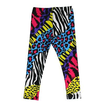 Baby Toddler 80's Metal Rocker NEON ZEBRA Cheetah Pants Leggings 12 18 mo](Toddler 80s Costume)