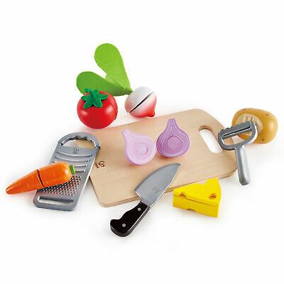 Hape Cooking Essentials Kids Wooden Pretend Kitchen Play Food & Accessories Set