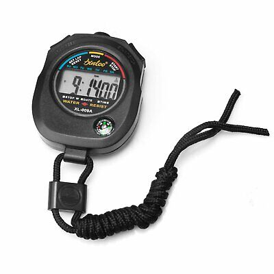 LCD Stopwatch Counter Timer Digital Sport Date Alarm Chronograph w/Compass Fitness Technology