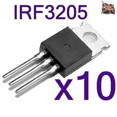 10 Lots IRF3205PBF IRF3205 Mosfet N CHANNEL TO-220 UK Stock
