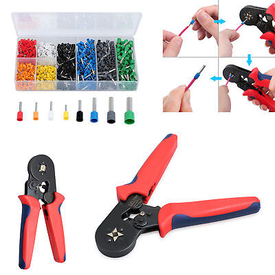175mm Ferrule Crimping Plier Hand Crimping Tool1200pcs Terminal Wire Connectors