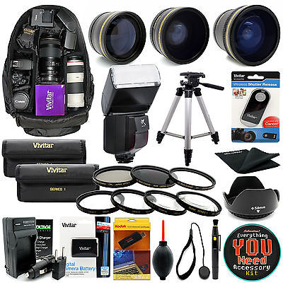 Canon Rebel T5 T3 Digital SLR Camera Everything You Need Accessory Kit