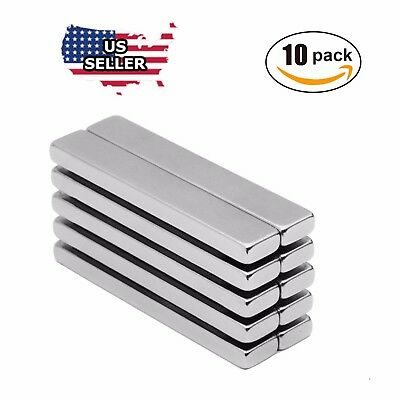 10x N52 Big Block Bar Fridge 60 X10 X 3mm Magnet Strong Rare Earth Neodymium Us