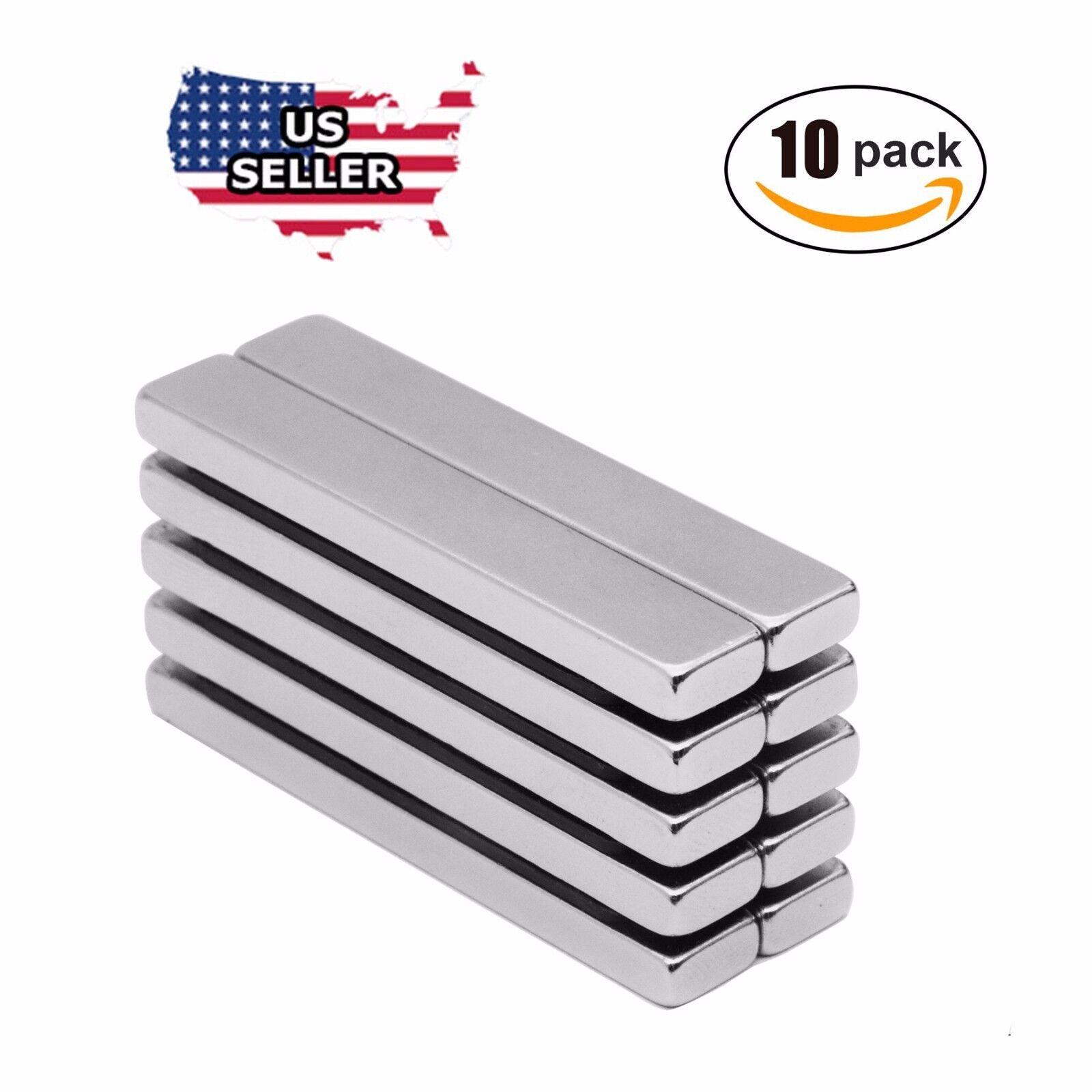 10x N52 Big Block Bar Fridge 60 x10 x 3mm Magnet Strong Rare Earth Neodymium US Business & Industrial