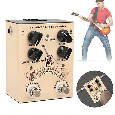 Acoustic Guitar Effect Pedal DI Box Alloy Shell Musical Instrument Accessories