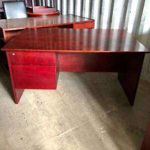 Dark Wooden Desk with Drawers #2 - Delivery Available