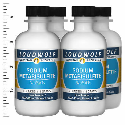 Sodium Metabisulfite 1 Lb Total 4 Bottles Reagent Grade Fine Powder