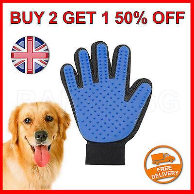 Pet Dog Cat Grooming Glove Dirt Hair Fur Removal Remover Brush Gentle Deshedding