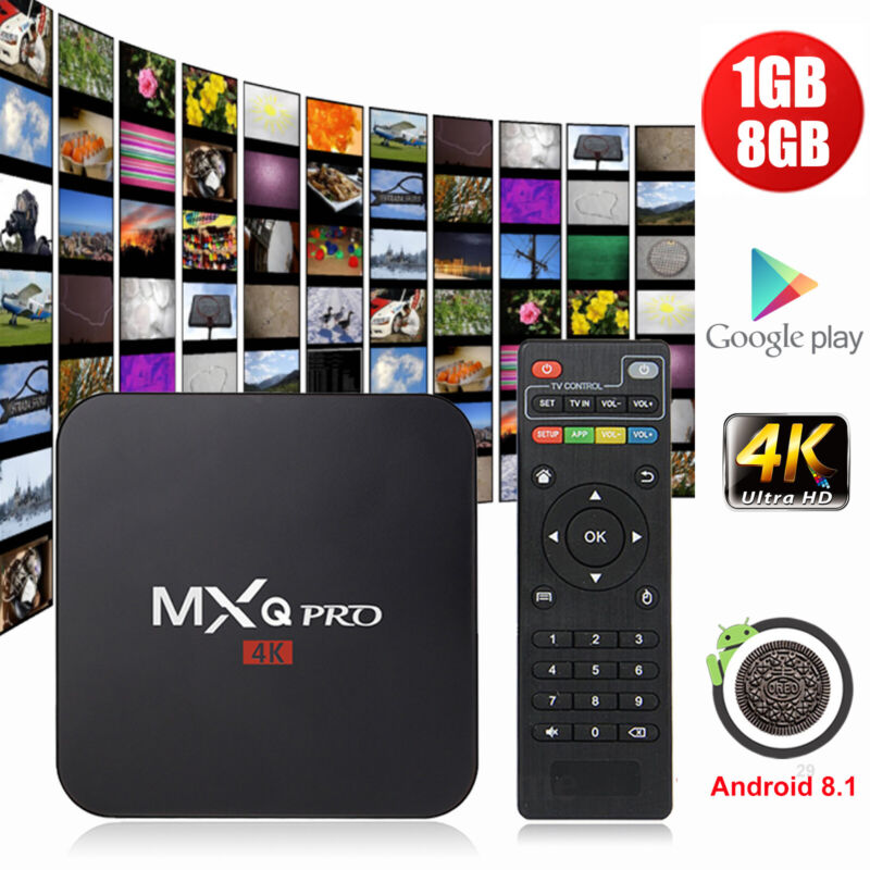 Affordable MXQ PRO Smart TV Box Quad Core Android 8.1 1+8G W