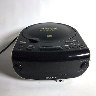 Sony Dream Machine FM/AM CD Dual Alarm Clock Radio ICF-CD815 - Tested and Works