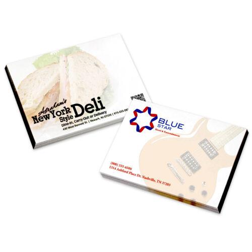 BIC® Post-it Notes. Custom Printed Full Color, 25 sheet pads - 500 quantity- 4x3