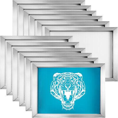 12 Pcs Aluminum Screen Printing Screens 8x10 Frame-110 White Mesh For T-shirt