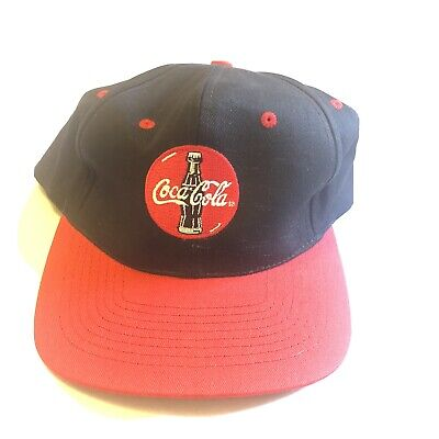 Coca Cola Baseball Cap Black Red Adjustable Snapback Coke Hat Vintage - NEW