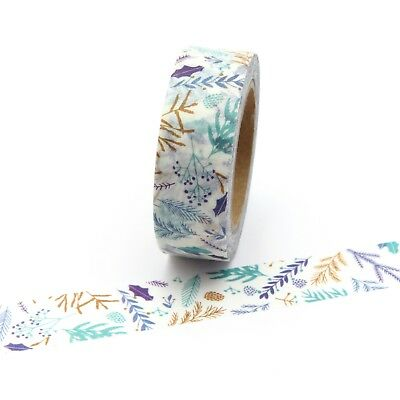 Washi Tape Floral Leaf Branches 15mm x 10m