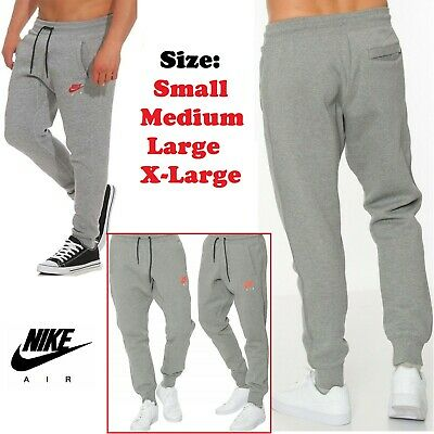 Nike Air Mens Fleece Joggers Tracksuit Jogging Bottoms Skinny Pants Slim Fit New