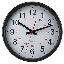 Timekeeper OP201 24-hour Wall Clock 14 Inch Perp