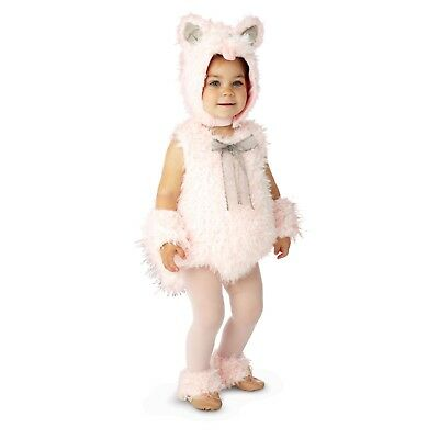 Shaggy Pink Kitty Toddler Costume Baby Infant Cat Kitten Cute - Infant Kitty Costume