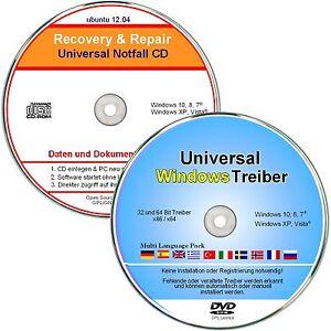 Windows Treiber CD/DVD + Notfall CD / Daten Rettung / Repair   ★ 2 CD Set