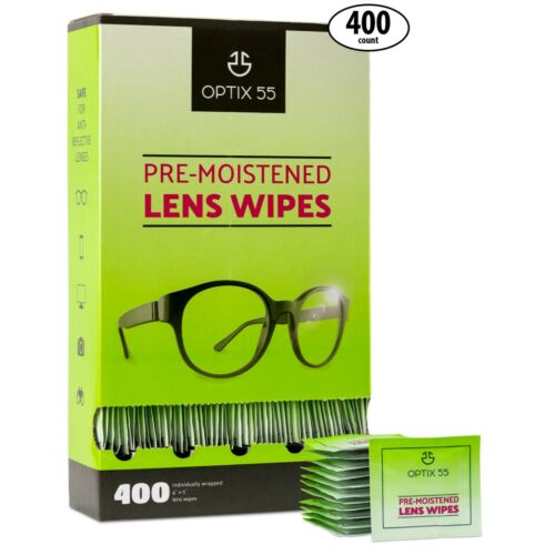 Eyeglass Cleaner Lens Wipes - 400 Pre-Moistened Cleaning Cloths  Glasses Cleaner