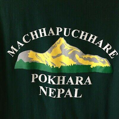Machhapuchhare Pokhara Nepal Tee Shirt Size Large L