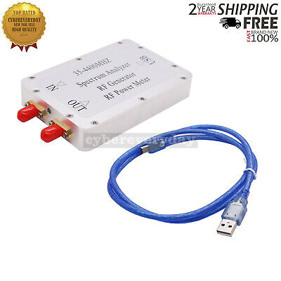 35-4400mhz Usb Spectrum Analyzer Rf Power Meter Signal Generator Tracking Source