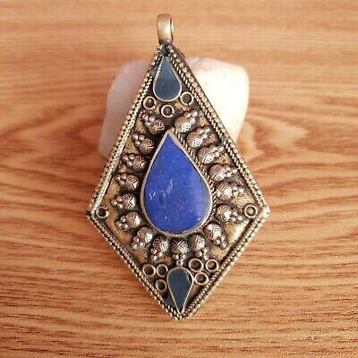 Lapis Lazuli Leaf Pendant Afghanistan