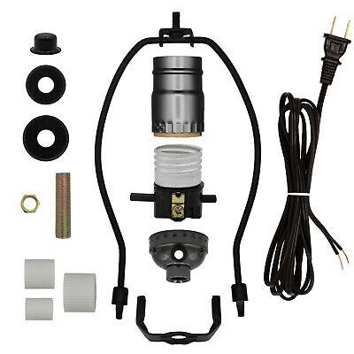 Lamp Kit for Liquor Bottles - Includes All Parts - Black Finish